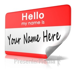 ID# 11681 - Hello My Name Is Tag Text - Presentation Clipart