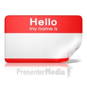 ID# 11682 - Hello My Name Is Tag Front - Presentation Clipart