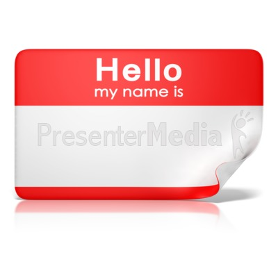 Hello My Name Is Tag Front PowerPoint Clip Art