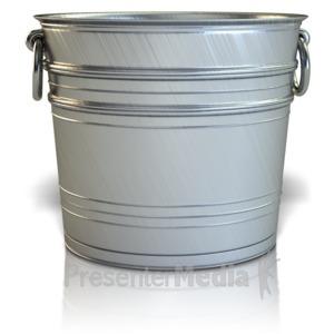ID# 11690 - Empty Bucket - Presentation Clipart