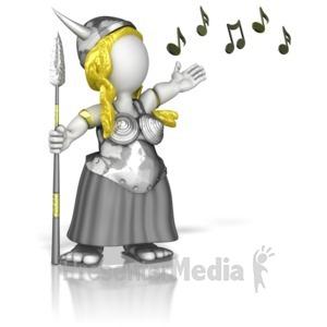 ID# 11693 - Opera Lady Singing - Presentation Clipart