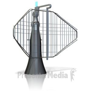 ID# 11711 - Radar Dish - Presentation Clipart