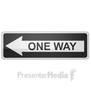 ID# 11716 - Long One Way Sign Left - Presentation Clipart