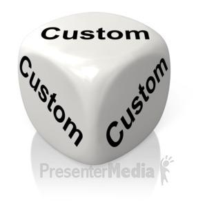 ID# 11721 - White Dice Custom - Presentation Clipart