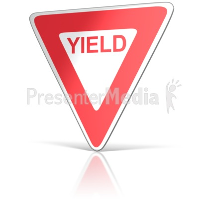 Yield Sign  PowerPoint Clip Art