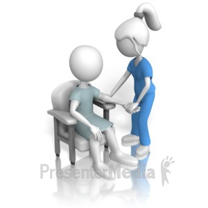 ID# 11745 - Nurse or Doctor Inspecting Patient - Presentation Clipart