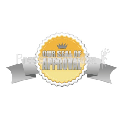 Seal With Ribbon PowerPoint Clip Art
