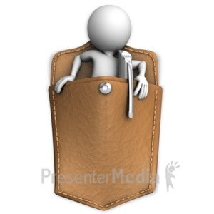 ID# 11774 - Got Someone In Your Pocket - Presentation Clipart
