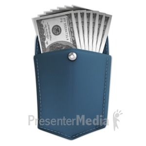 ID# 11835 - Money In Pocket - Presentation Clipart