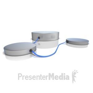 ID# 11839 - Three Platforms - Presentation Clipart