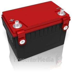 ID# 11845 - Car Battery - Presentation Clipart