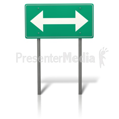 Arrow Split Sign PowerPoint Clip Art