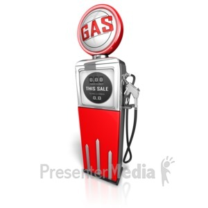 ID# 11851 - Retro Gas Pump - Presentation Clipart