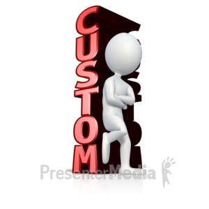 ID# 11862 - Stick Figure Leaning On Text - Presentation Clipart