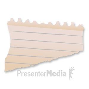 ID# 11900 - Blank Paper Scrap - Presentation Clipart