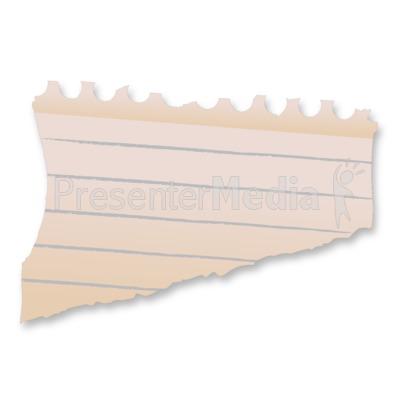 Blank Paper Scrap PowerPoint Clip Art