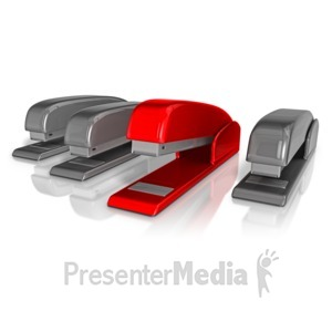 ID# 11908 - Office Stapler Standout - Presentation Clipart