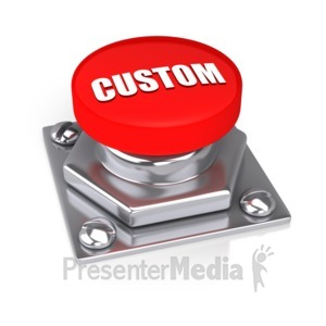 ID# 11910 - Red Button - Presentation Clipart