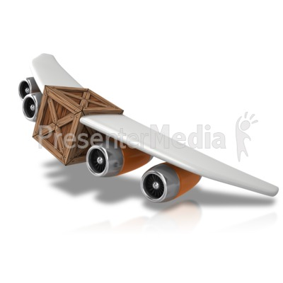 Plane With Cargo PowerPoint Clip Art