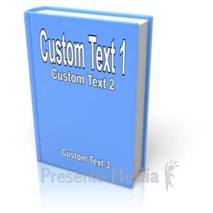 ID# 11932 - Custom Book Cover - Presentation Clipart