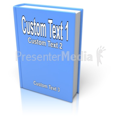 Custom Book Cover PowerPoint Clip Art
