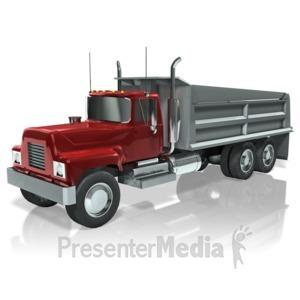 ID# 11933 - Dump Truck - Presentation Clipart