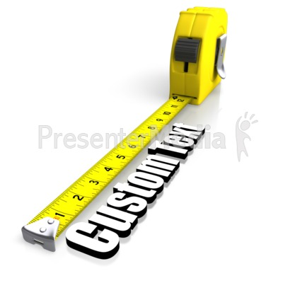 Tape Measuring Text PowerPoint Clip Art