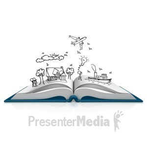 ID# 11954 - Book Dream Sketch - Presentation Clipart