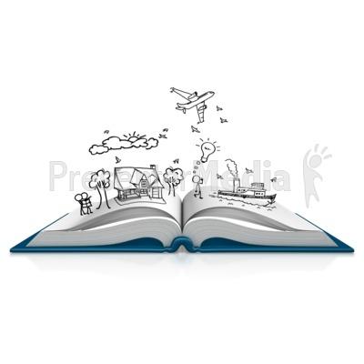 Book Dream Sketch PowerPoint Clip Art