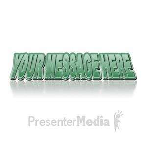 ID# 11955 - Retro Text - Presentation Clipart