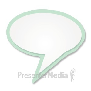 ID# 11956 - Blank Talk Bubble - Presentation Clipart
