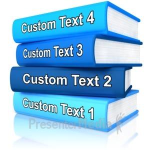 ID# 11960 - Custom Stack Of Books - Presentation Clipart