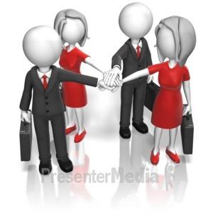 ID# 12008 - Business Team Huddle - Presentation Clipart