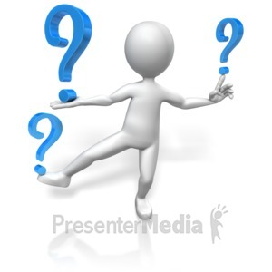 ID# 12010 - Figure Balances Questions - Presentation Clipart