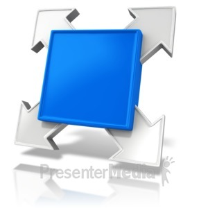 ID# 12030 - Single Square Element - Presentation Clipart