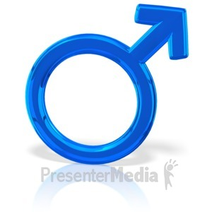ID# 12033 - Gender Symbol Male - Presentation Clipart