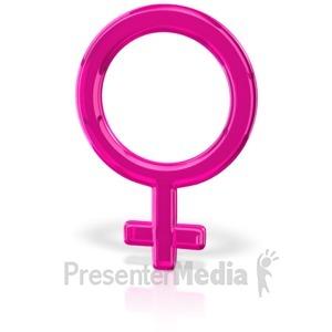 ID# 12034 - Gender Symbol Female - Presentation Clipart