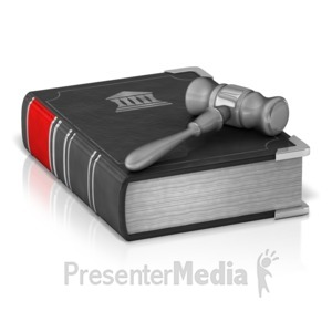 ID# 12039 - Law Book And Gavel - Presentation Clipart