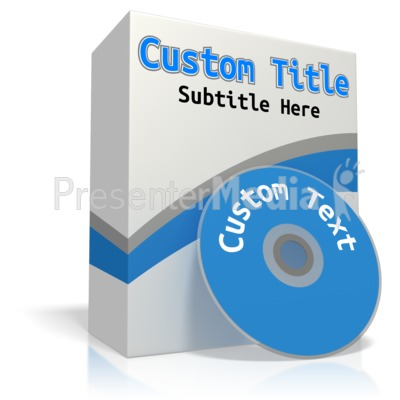 Custom Software Box PowerPoint Clip Art
