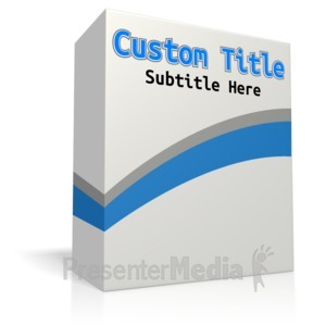 ID# 12042 - Custom Software Box No Disc - Presentation Clipart