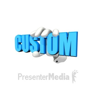 ID# 12055 - Hand Holding Custom Text - Presentation Clipart