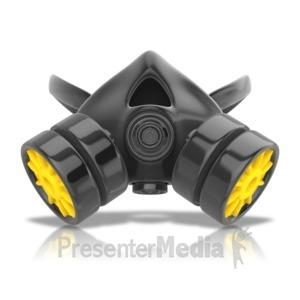 ID# 12064 - Respirator Mask - Presentation Clipart