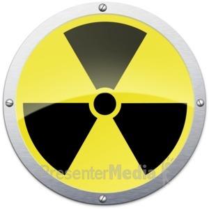 ID# 12070 - Radioactive Metal Symbol - Presentation Clipart