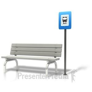 ID# 12071 - Bench Bus Stop - Presentation Clipart