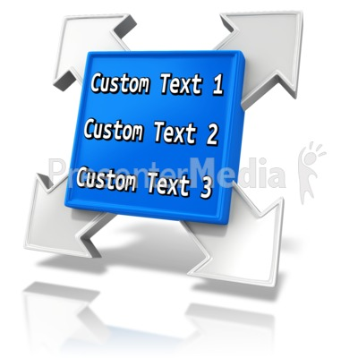 Custom Square Element PowerPoint Clip Art