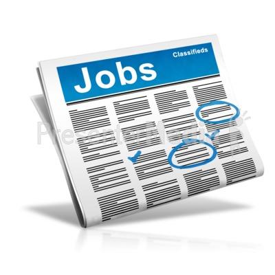 Newspaper Check Jobs PowerPoint Clip Art