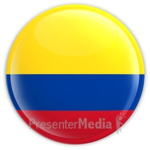 ID# 12089 - Colombia Badge - Presentation Clipart