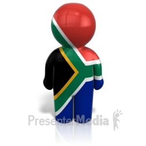 ID# 12102 - South Africa Peg Figure Icon - Presentation Clipart