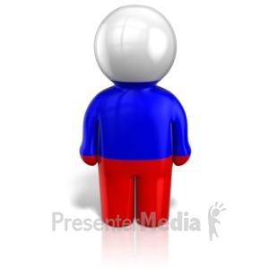 ID# 12103 - Russia Peg Figure Flag Icon - Presentation Clipart