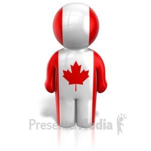 ID# 12111 - Canada Peg Figure Flag Icon - Presentation Clipart